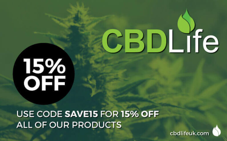 Save 15% off your order this December at CBDLife UK