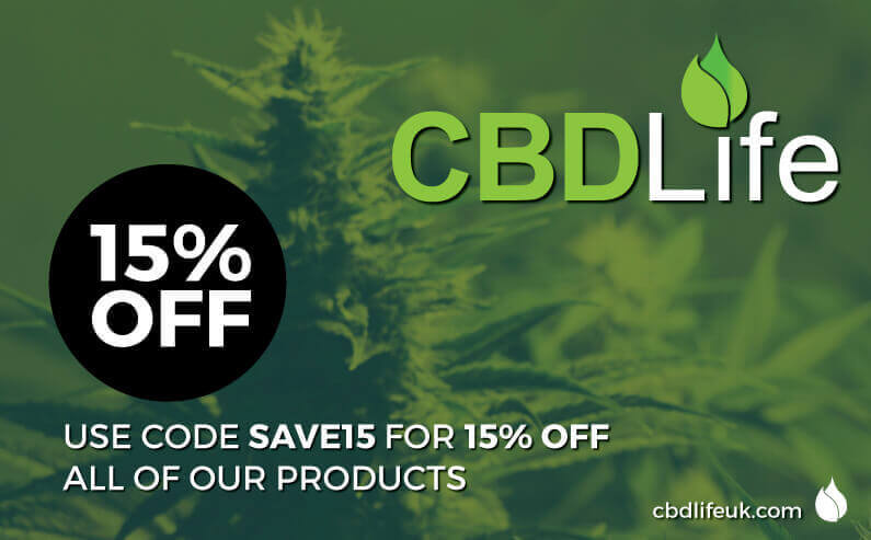 Save 15% off your order at CBDLife UK