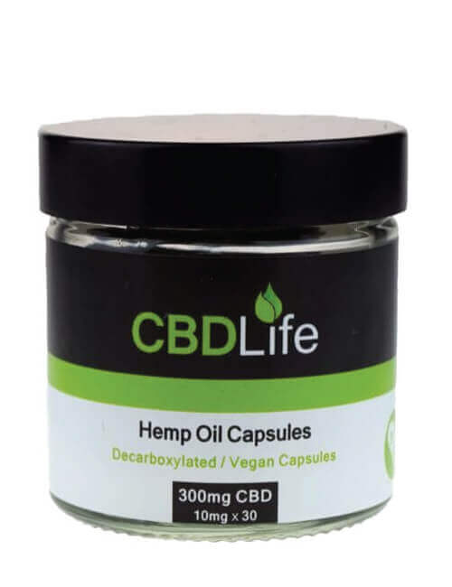 Hemp Oil Capsules Decarboxylated (30 X 10mg) 300mg