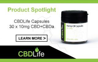 Product Spotlight - CBDLife Capsules 30 x 10mg