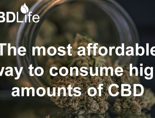 The most affordable way to consume high amounts of CBD