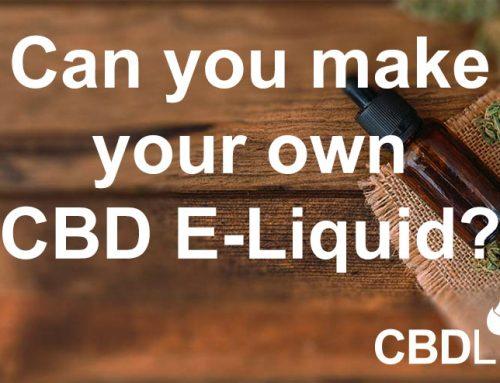 Can you make your own CBD E-liquid?