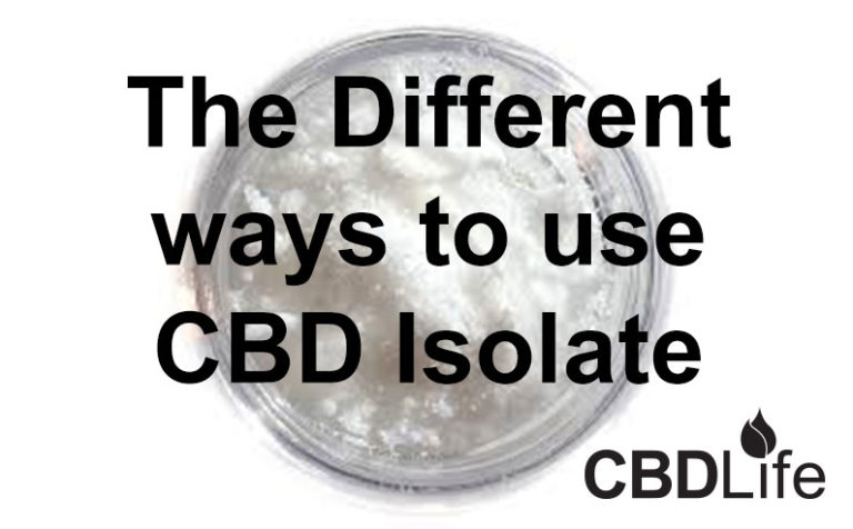 Ways to use CBD Isolate