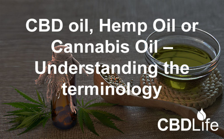 CBD oil, Hemp Oil or Cannabis Oil – Understanding the terminology