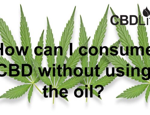 How can I consume CBD without using the oil?