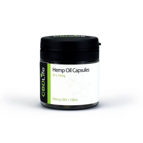 Hemp Oil Capsules 30 x 25mg - 750mg CBD+CBDa