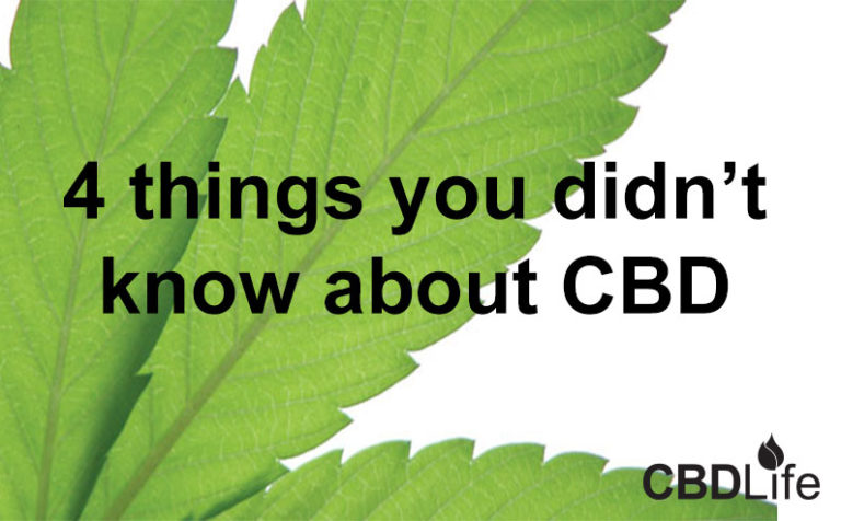 4 things you didn't know about CBD