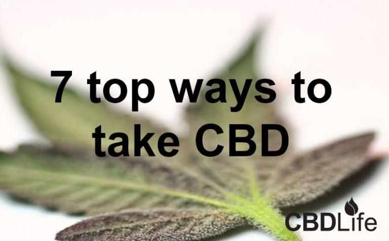 7 top ways to take CBD