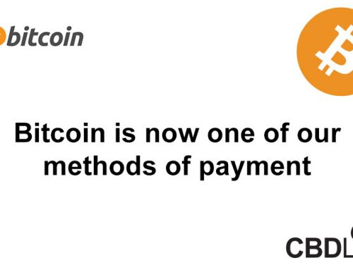 Bitcoin is now one of our methods of payment