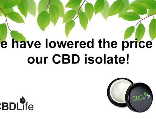 We have lowered the price of our CBD isolate!
