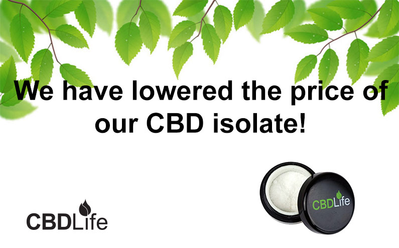 You are currently viewing We have lowered the price of our CBD isolate!