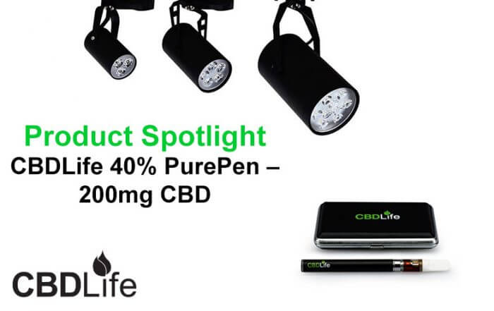 Product Spotlight-CBDLife 40% PurePen 200mg CBD