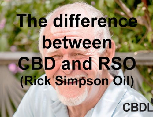 The difference between CBD and RSO (Rick Simpson Oil)/Cannabis Oil