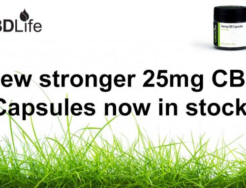 New stronger 25mg CBD Capsules now in stock