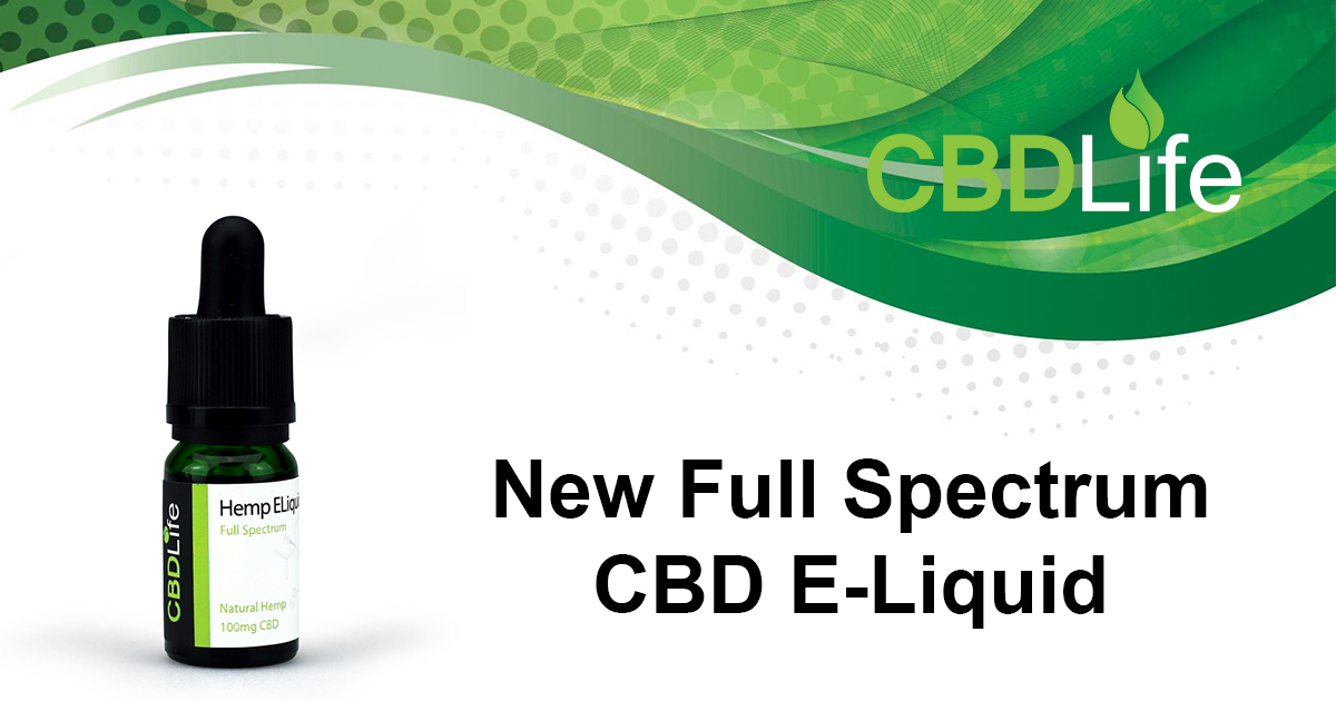 New Full Spectrum CBD E-liquids Released!
