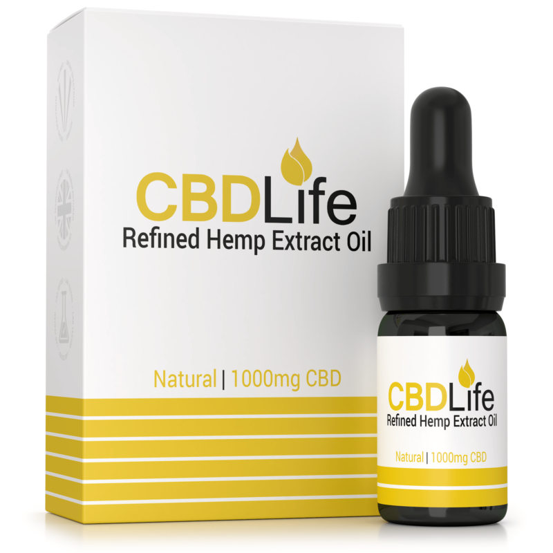 Refined Hemp Extract Oil 1000mg – 10ml