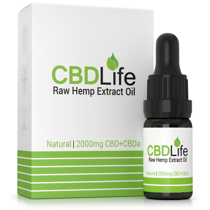Raw Hemp Extract Oil 2000mg CBD+CBDa – 10ml